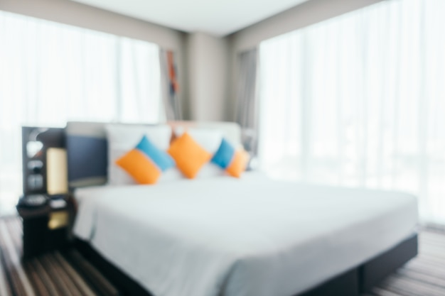 Gaas Het Interieur : Abstract vage slaapkamer interieur voor achtergrond foto