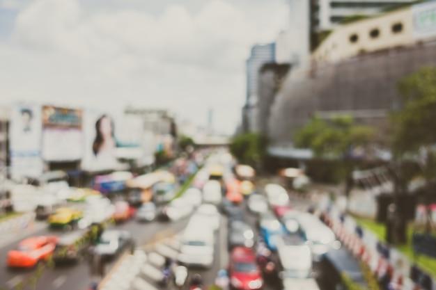 Abstract verkeer vervagen Gratis Foto