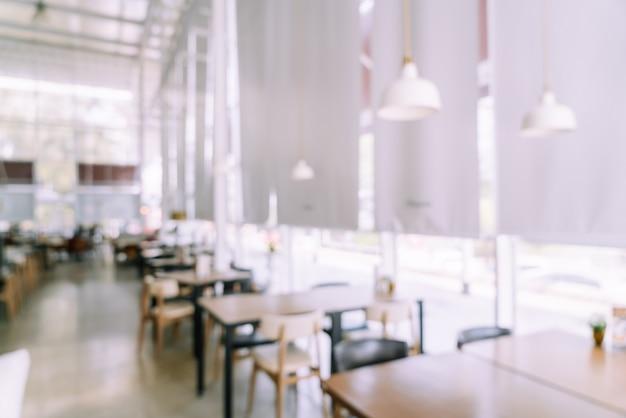 Abstract vervagen café-restaurant voor achtergrond Premium Foto