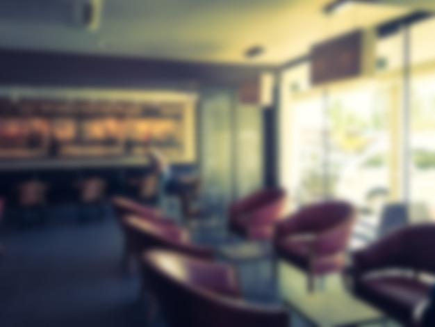 Abstract vervagen coffeeshop Gratis Foto