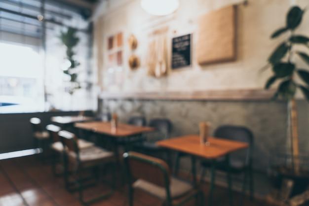 Abstract vervagen en defocus in koffie winkel en cafe voor achtergrond Premium Foto