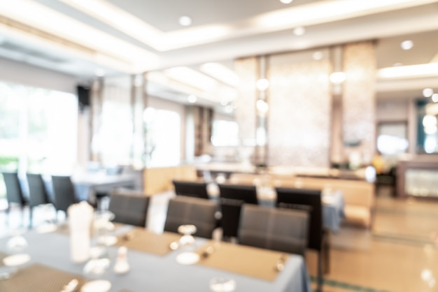 Abstract vervagen en defocused hotel restaurant voor achtergrond Premium Foto