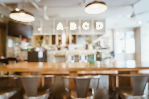 Abstract vervagen en defocused in café restaurant voor achtergrond Premium Foto