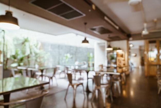 Abstract vervagen en defocused in café restaurant Premium Foto