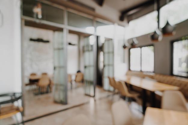 Abstract vervagen en defocused in restaurant en café voor achtergrond Premium Foto