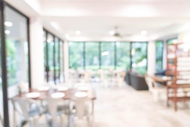 Abstract vervagen en defocused in restaurant Premium Foto