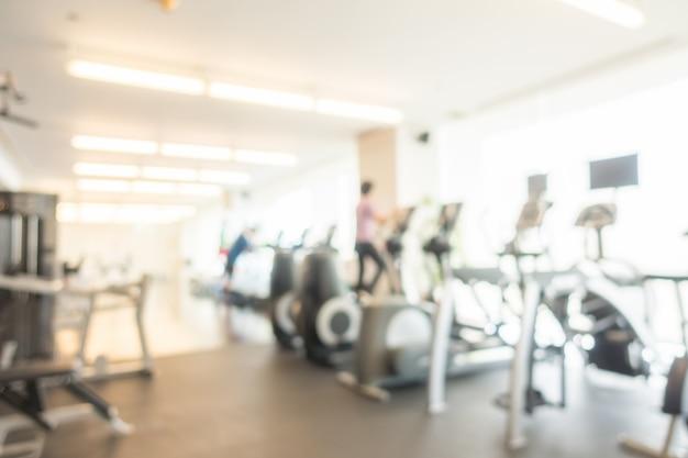 Abstract vervagen sportschool en fitness Gratis Foto
