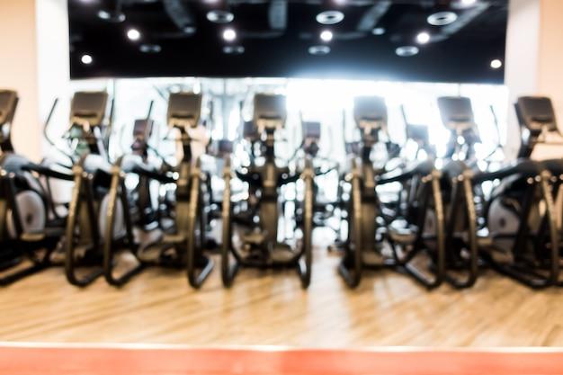 Abstract vervagen sportschool en fitnessruimte interieur Gratis Foto