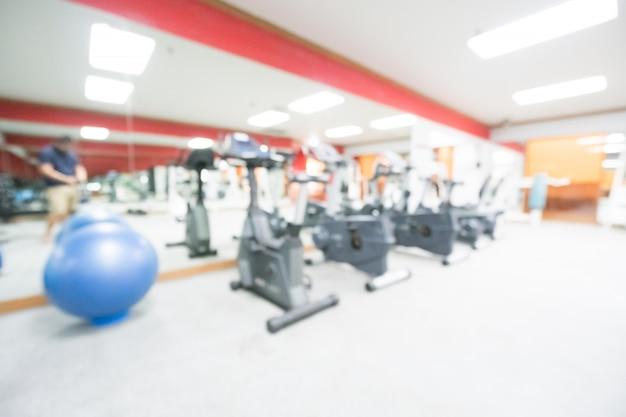 Abstract vervagen sportschool en fitnessruimte Gratis Foto