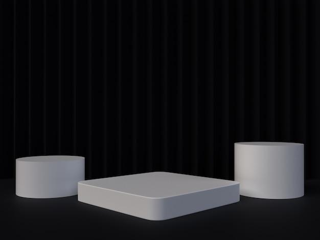 Abstracte 3d teruggevende geometrische achtergrond. minimalistisch ontwerp met lege ruimte. Premium Foto
