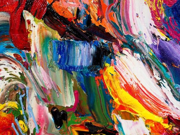 Abstracte achtergrond en geweven kleurrijk art. Premium Foto