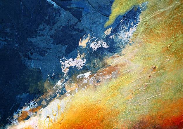 Abstracte achtergrond en geweven kleurrijke olieverfschilderij multikleuren. Premium Foto