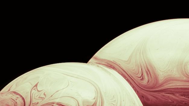 Abstracte achtergrond met zachte bruine bollen Gratis Foto