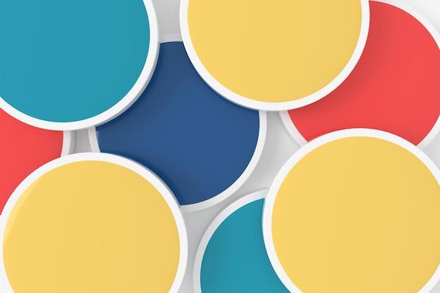 Abstracte achtergrond van cirkel Premium Foto