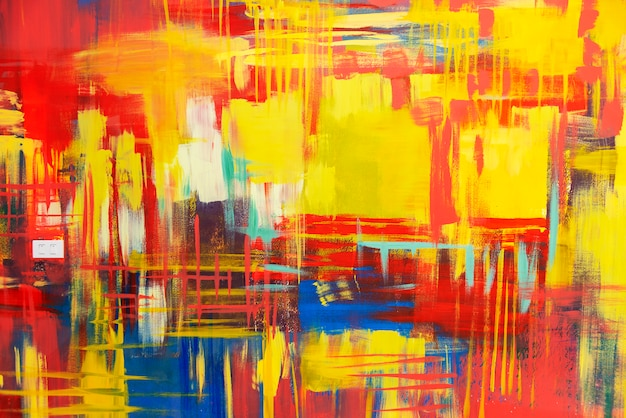 Abstracte achtergrond van kleurrijk geschilderd op betonnen muur. Premium Foto