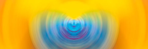 Abstracte achtergrond van kleurrijke spin cirkel radiale motion blur. Premium Foto