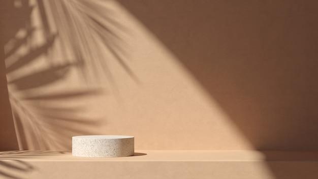 Abstracte achtergrondscène voor productvertoning. 3d-weergave Premium Foto