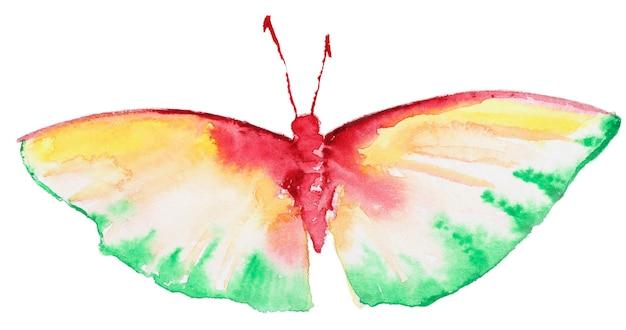 Abstracte aquarel hand getrokken vlinder Premium Foto