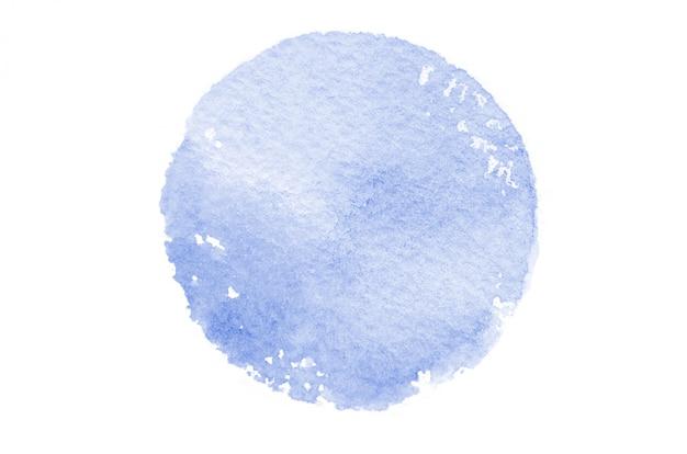 Abstracte aquarel vlekken vormen een ronde vorm van blauwe kleur Premium Foto