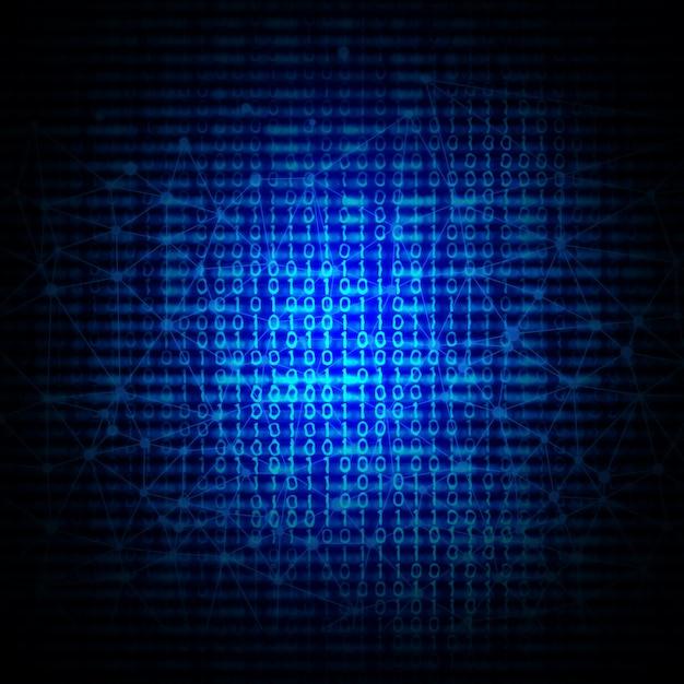 Abstracte binaire code achtergrond Gratis Foto