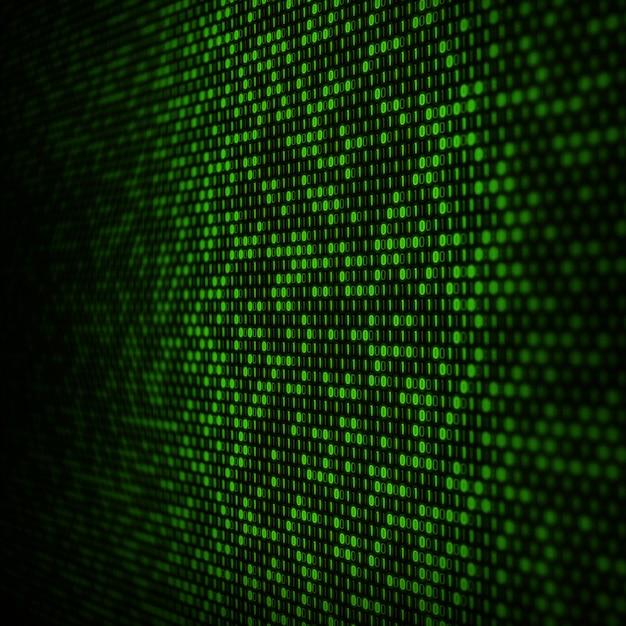 Abstracte binaire codeachtergrond Gratis Foto