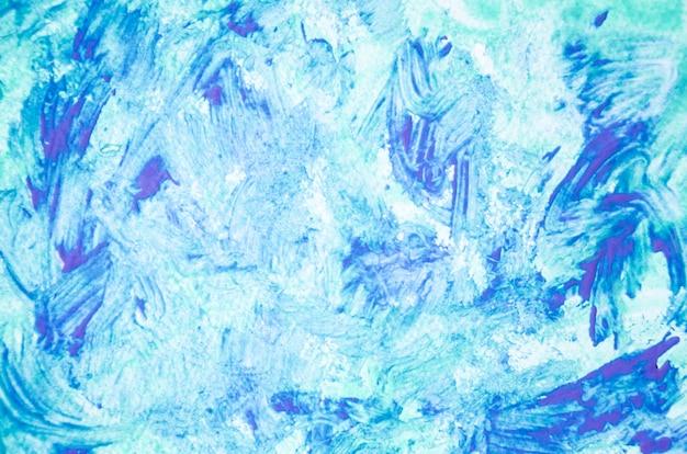 Abstracte blauwe acrylverf op canvas Gratis Foto