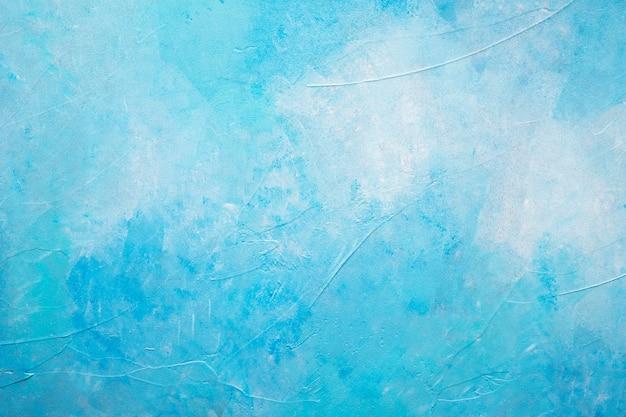 Abstracte blauwe geschilderde geweven achtergrond Premium Foto