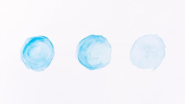 Abstracte blauwe maan vormen aquarel Gratis Foto