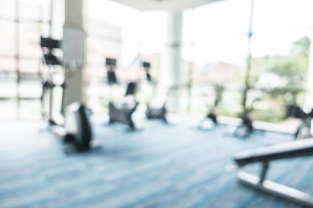 Abstracte blur fitness en fitnessruimte Gratis Foto