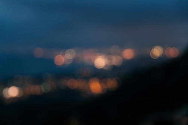 Abstracte bokeh zachte lichtenachtergrond Gratis Foto