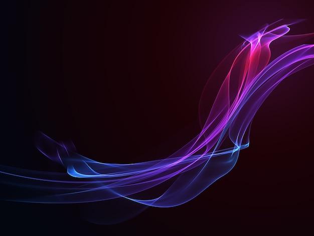 Abstracte donkere achtergrond met vloeiende kleurrijke golven Gratis Foto