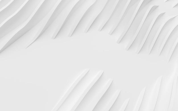 Abstracte gebogen vormen. witte ronde achtergrond. Premium Foto