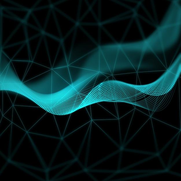 Abstracte geometrische achtergrond met futuristisch design Gratis Foto