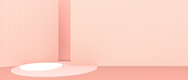 Abstracte geometrische vormen roze achtergrond producttentoonstelling, productshowcase, 3d-display Premium Foto