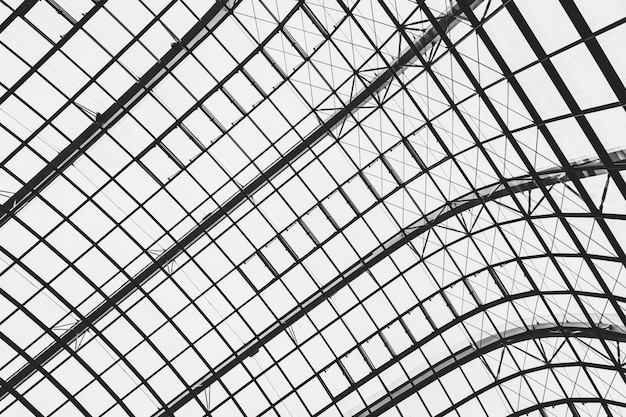 Abstracte glazen dak architectuur buitenkant van het dak Gratis Foto