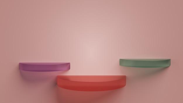 Abstracte glazen podia Premium Foto