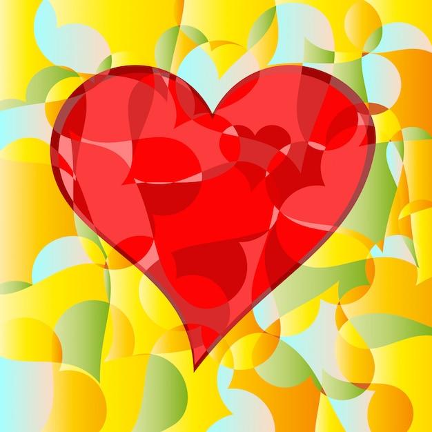Abstracte hart- en passiestukken Premium Foto