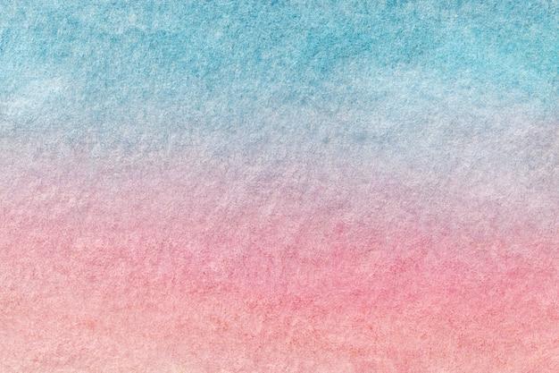 Abstracte kunst lichtblauwe en roze kleuren als achtergrond. aquarel schilderij op canvas. Premium Foto