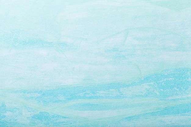 Abstracte kunst lichtblauwe kleur als achtergrond. multicolor schilderij op canvas. Premium Foto