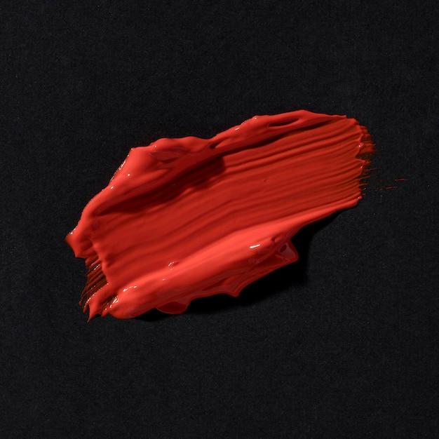 Abstracte kunst rode penseelstreek Gratis Foto
