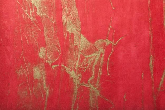 Abstracte kunstachtergrond donkerrood met gouden kleur Premium Foto