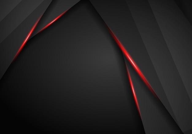 Abstracte metaalachtergrond met zwarte rode kadersport Premium Foto
