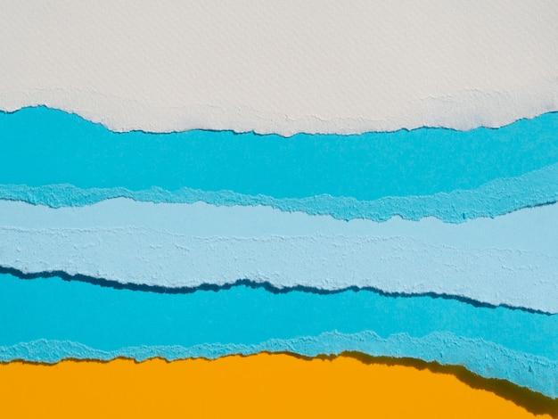 Abstracte oceaansamenstelling met kleurendocumenten Gratis Foto