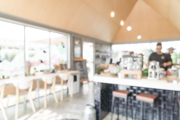 Abstracte onscherpte in café Premium Foto
