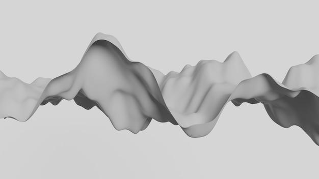 Abstracte papier kunst vloeiende golf Premium Foto