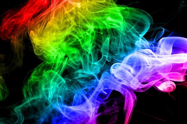Abstracte regenboog rook achtergrond Premium Foto