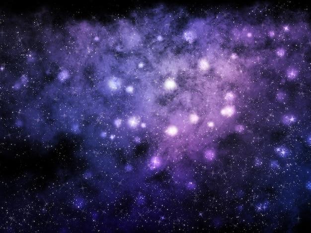 Abstracte ruimteachtergrond met nevel en sterren Gratis Foto