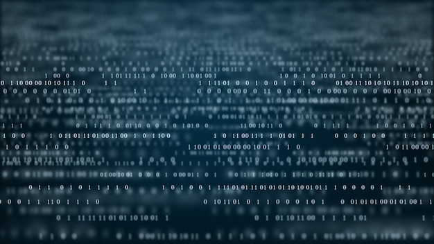 Abstracte technologie binaire code achtergrond Premium Foto
