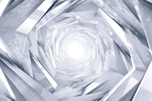 Abstracte technologie om tunnelachtergrond Premium Foto