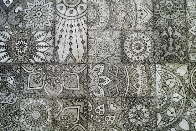 Abstracte textuur met damast naadloze patroon. Premium Foto